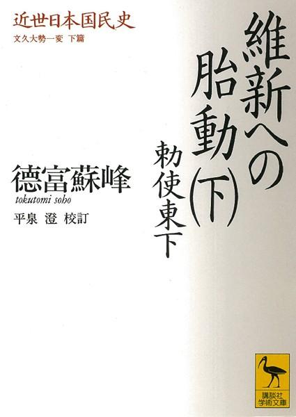 近世日本国民史 維新への胎動 (下) 勅使東下 文久大勢一変 下篇