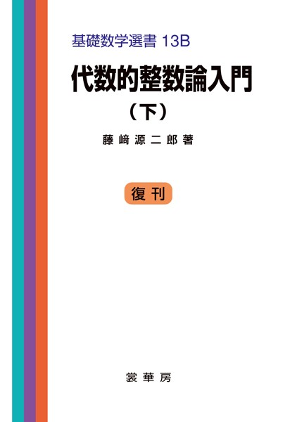 代数的整数論入門 (下) 基礎数学選書 13B
